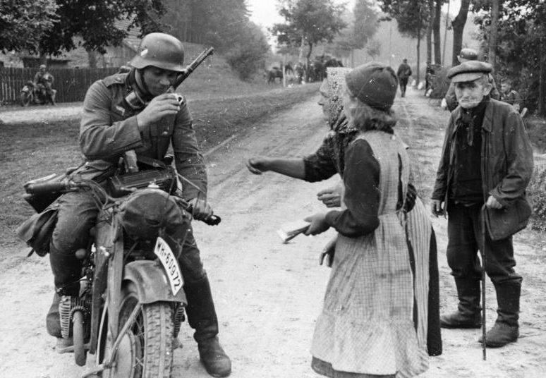 Польша. Мотоцикл K500 Zundapp. 1939 г.