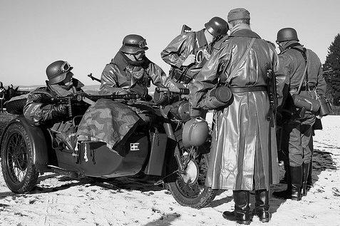 Мотоцикл BMW R75. Россия. 1941 г.