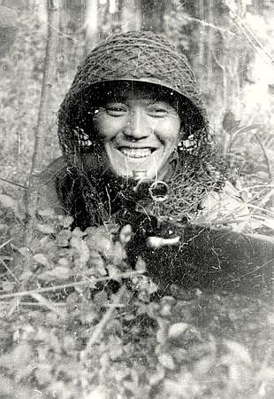 Снайпер Абдыбеков Тулеугали Насырханович. Одержал 397 побед.
