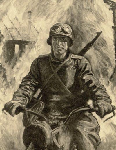 Engelhardt Otto. Мотоциклист.