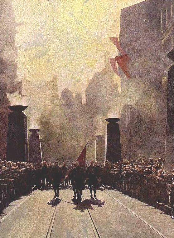 Hermann P. «Шествие 9 ноября в Мюнхене». 1941.