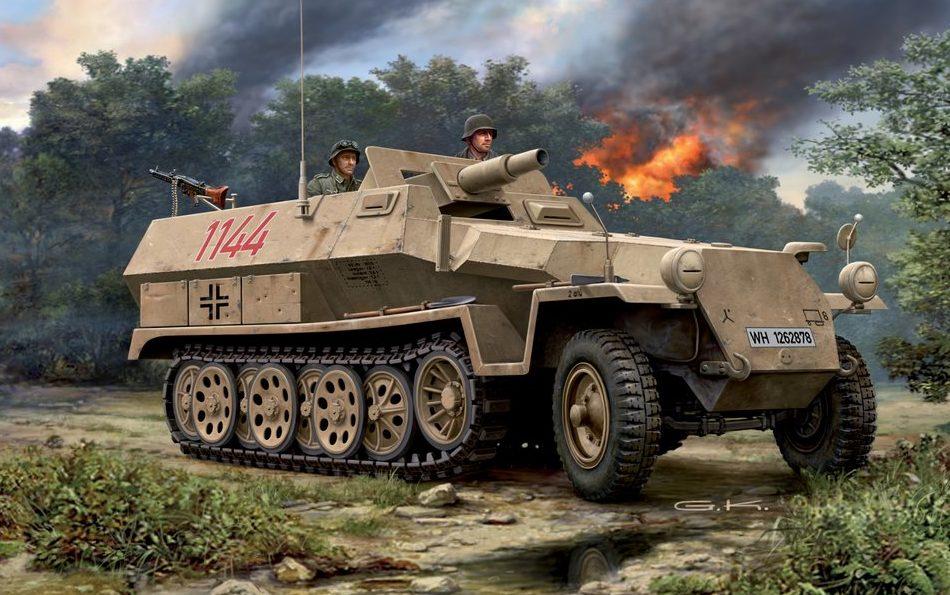 Klawek G. Бронетранспортер Sd.Kfz. 251/9 Ausf C Halftrack.