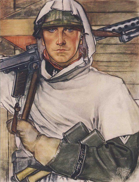 Krause Ernst. Солдат.