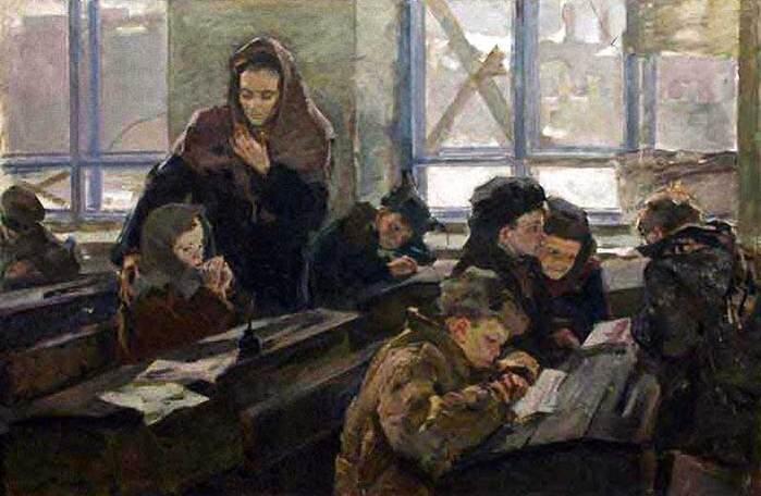 Башкивич Ольга. Первый урок в 1944 году.