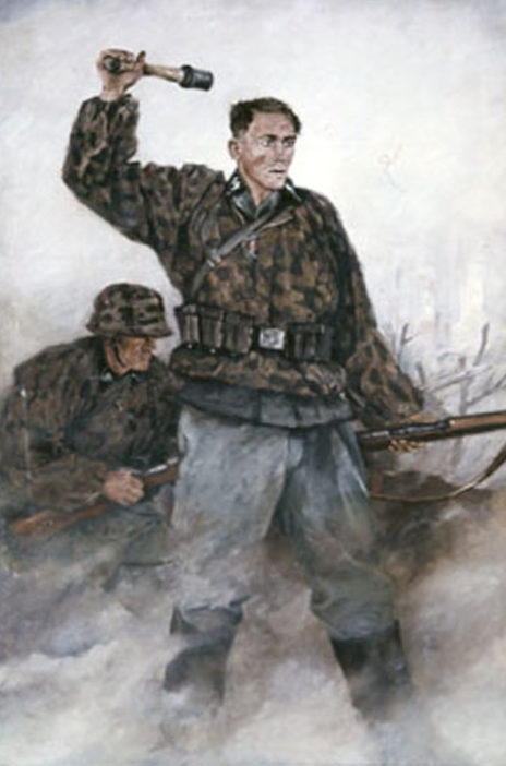 Ottomar Anton. Бросок гранаты.