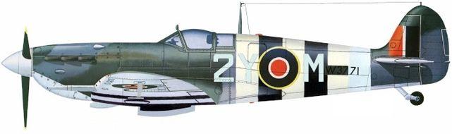 Petit Jean-Jacques. Истребитель Supermarine Spitfire Mk.Vb 2Y-M.