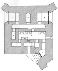 План бункера типа R107.