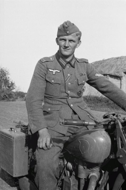 Мотоцикл типа NSU. Россия.1941 г.