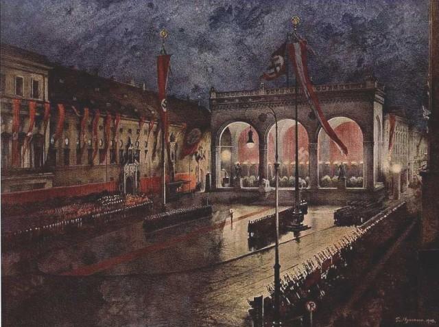 Hermann P. «Празднование 9 ноября на Фельдхернфалле в Мюнхене». 1941.