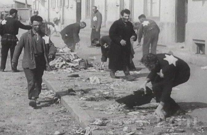 Евреи из гетто на работах. Ноябрь, 1941 г.