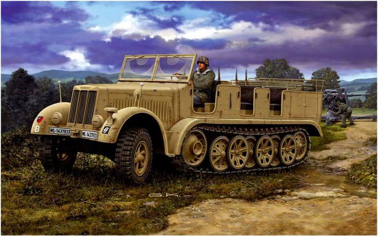 Klawek G. Артиллерийский тягач Sd.Kfz. 7.