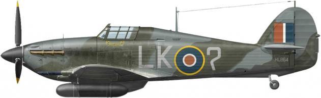Dekker Thierry. Истребитель Hawker Hurricane Mk.IIC.