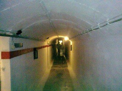 Подземный туннель форта.