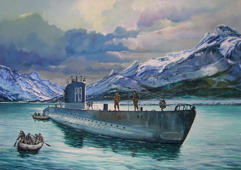 Guyot Michel. Операция Musketoon. Норвегия.
