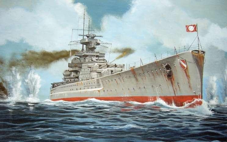 Piel Stefan. Крейсер Scharnhorst.