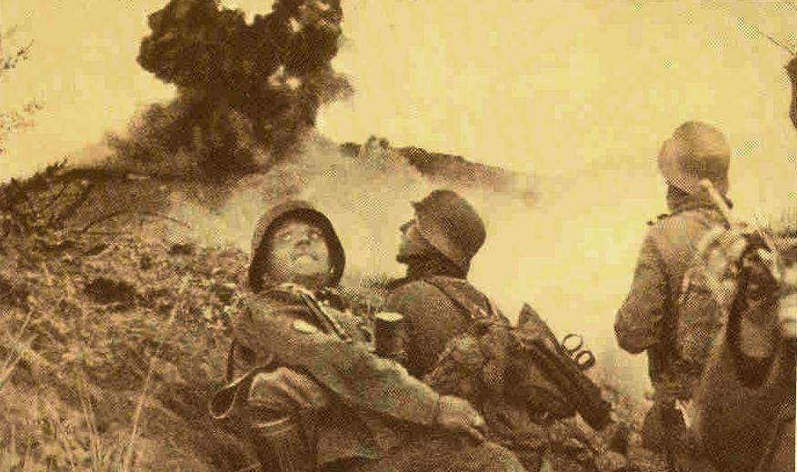 Штурм крепости немецкими войсками.