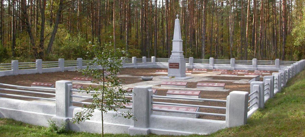 г. Варена. Воинское захоронение по улице Витаутог в старой Варена у деревни Науяулитис. На кладбище похоронено 428 воинов, в т.ч. 3 неизвестных 16-го и 36-го гвардейских стрелковых корпусов 11-й гвардейской армии, погибших в июле 1944 года.