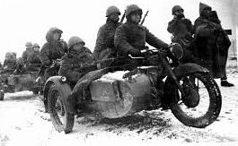 Разведгруппа на М-72. 1941 г.