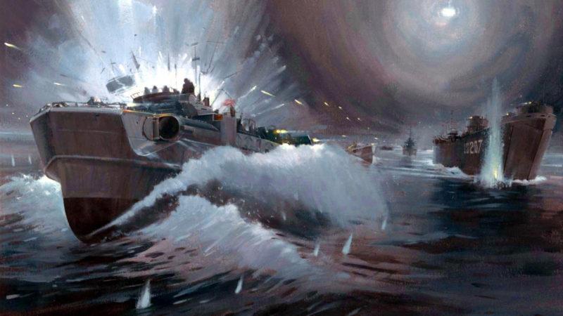 Howard Gerrard. Десантный бот LST.