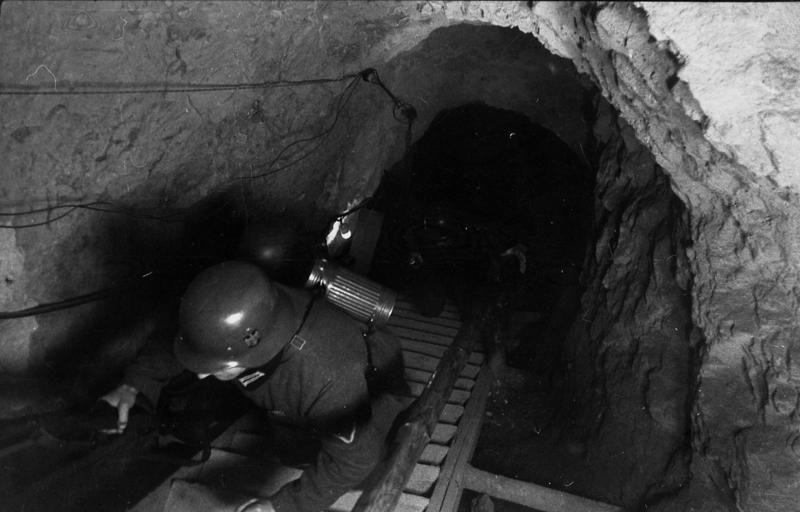 Лестница из подземелья бункера.