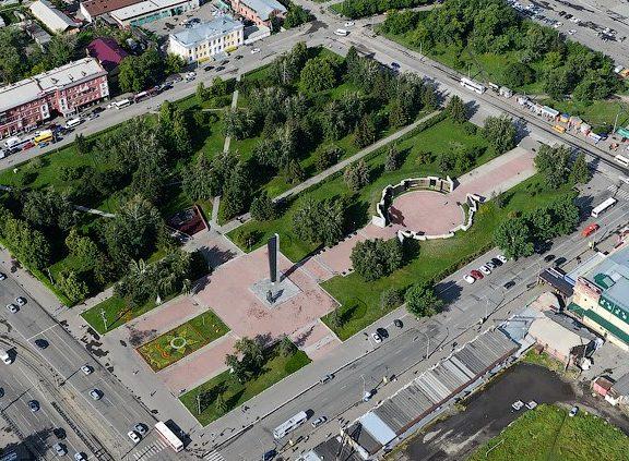 г. Барнаул. Мемориал Славы. Вид с высоты.