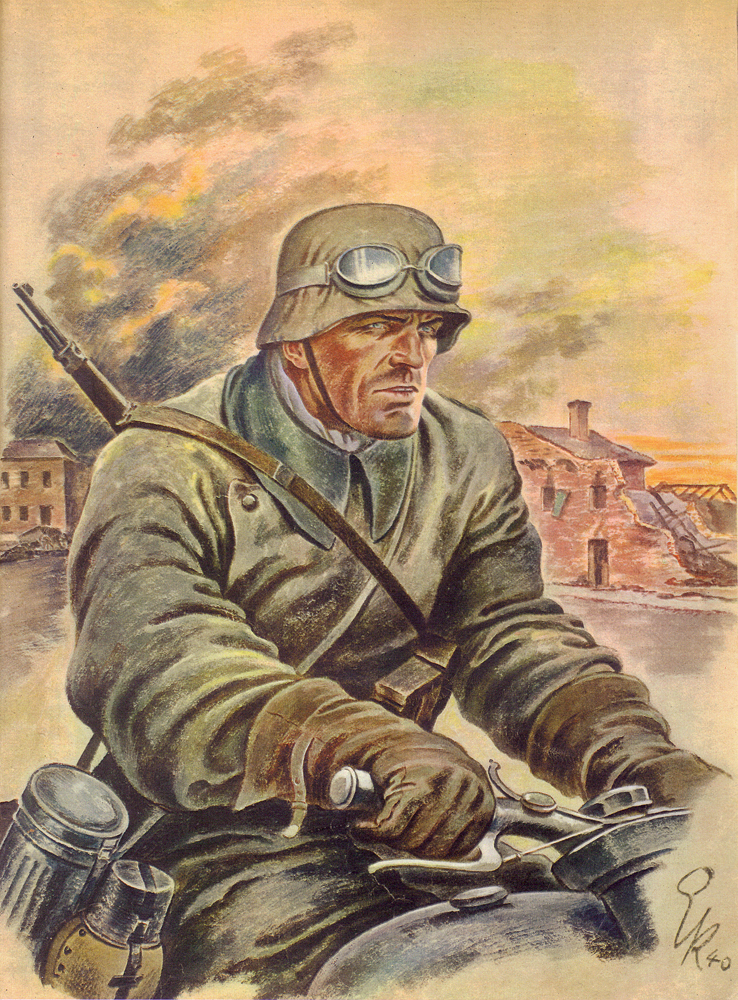 Kretschmann Ernst. Мотоциклист.