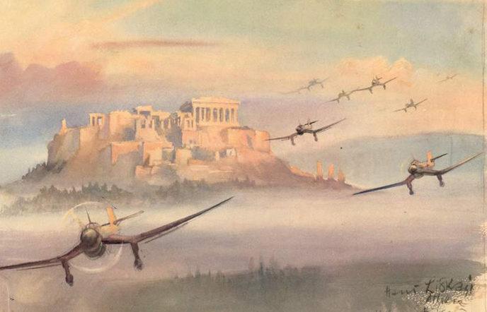 Liska Hans. «Stukas» возвращаются с Крита. Греция.