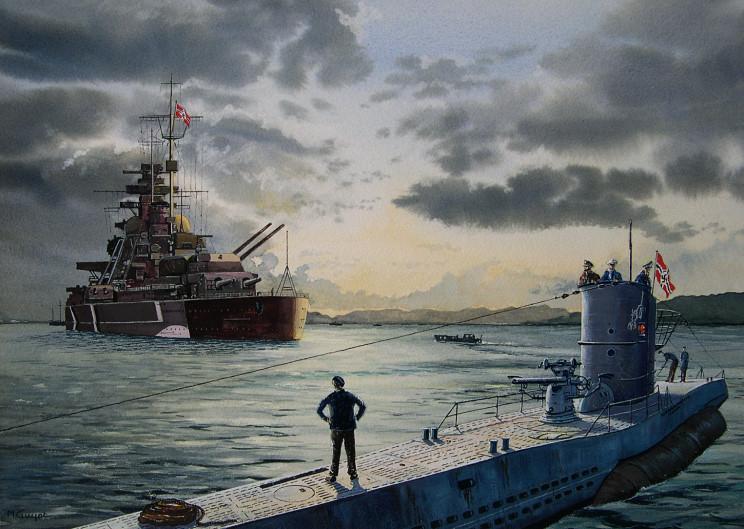 Guyot Michel. Линкор «Bismarck».