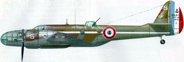 Petit Jean-Jacques. Бомбардировщик Glenn Martin 167F.