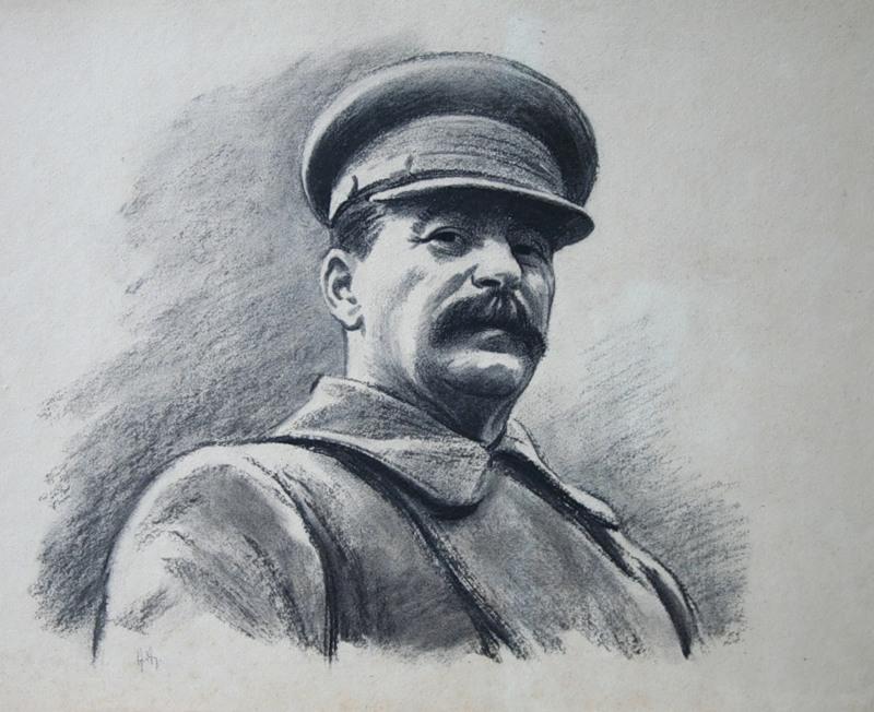 Авакумов Николай. Портрет Сталина.