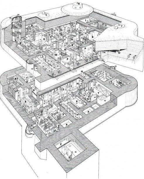 План-схема бункера.