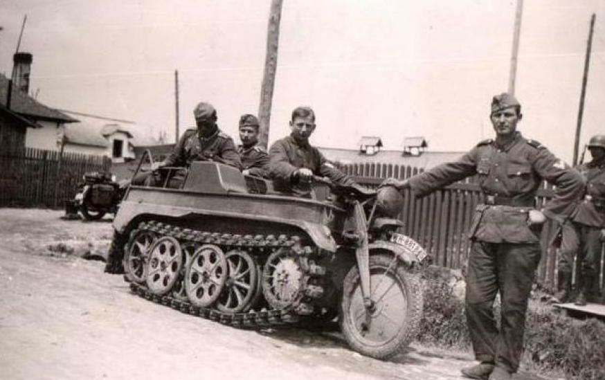 Вездеход SdKfz 2 Kettenkrad. Польша. 1939 г.
