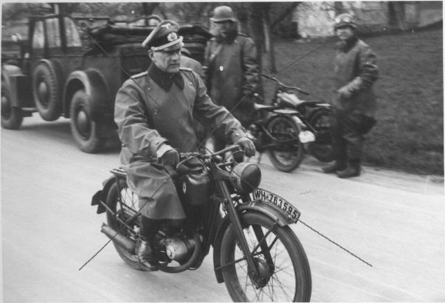 Мотоцикл DKW. Бельгия. 1940 г.