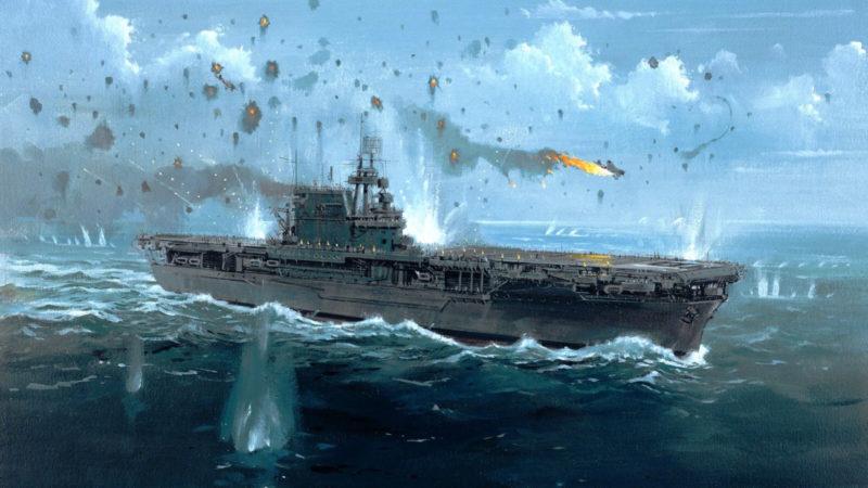 Howard Gerrard. Атака на авианосец «Enterprise».