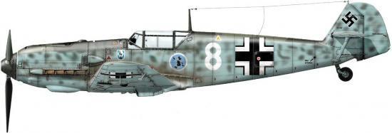 Dekker Thierry. Истребитель Bf-109 E-1.