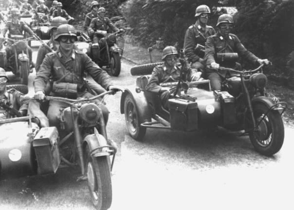 Мотоциклы BMW R75. Июнь 1941 г.