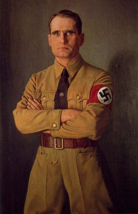Knirr Heinrich. Портрет Rudolf Hess.