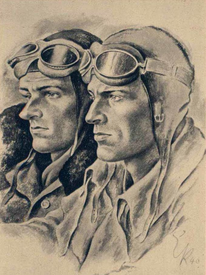 Kretschmann Ernst. Летчики.