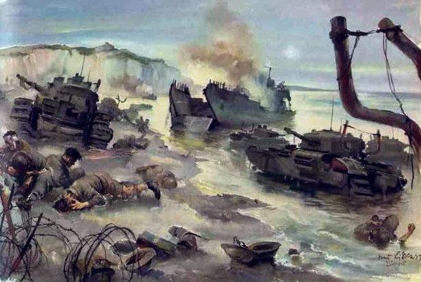 Liska Hans. Дьепп, плацдарм. 1942 г.