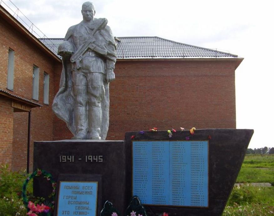 с. Береговое Панкрушихинского р-на. Памятник землякам, погибшим на войне.