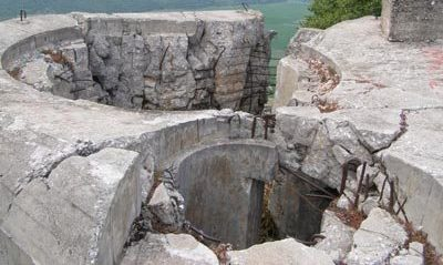 Место башенных орудий.