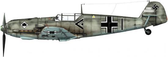 Dekker Thierry. Истребитель Bf-109 E-3.