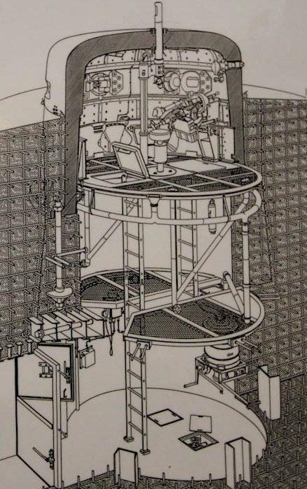 Схема устройства башни 20P7.