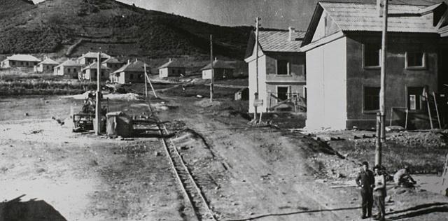 «Японское» строительство. Находка, улица Крылова.1947 г.