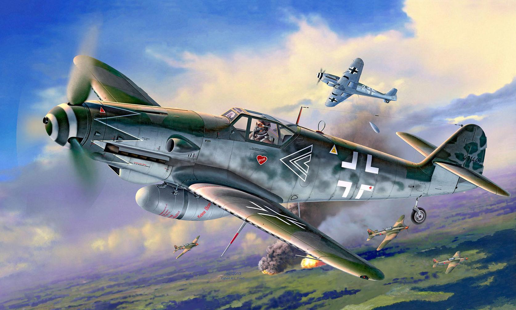 Friedl Egbert. Истребитель Bf-109 G.