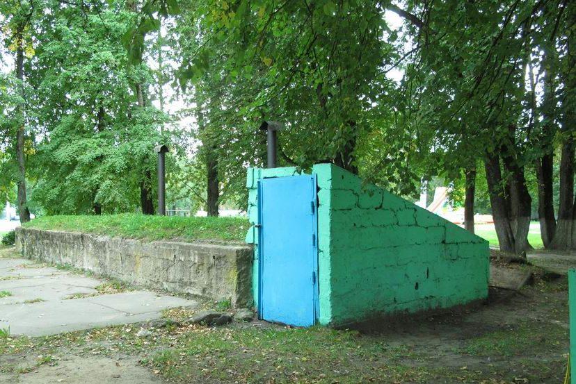 Немецкое бомбоубежище в Пскове.