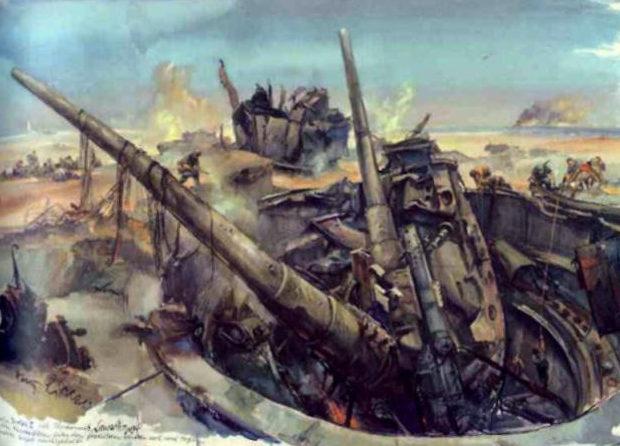 Liska Hans. Уничтоженная батарея в Севастополе.