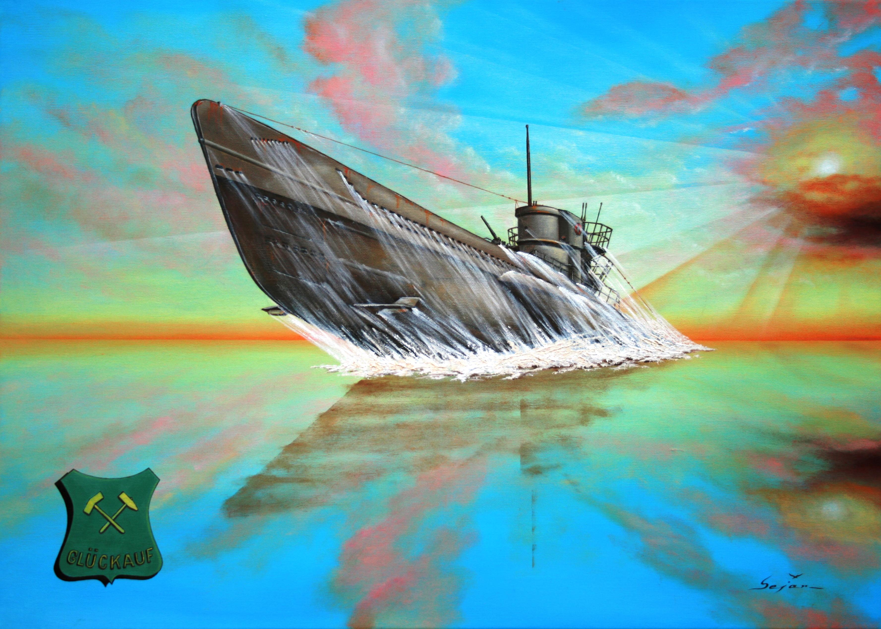Бекиров Сеяр. Подлодка «U-667» (Glückauf).