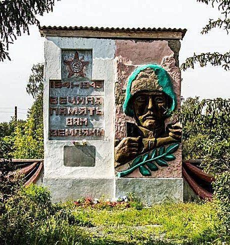 с. Муравей Залесовского р-на. Памятник воинам, погибшим в годы войны.