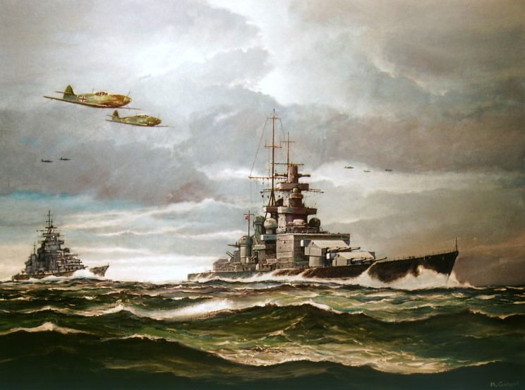 Guyot Michel. Крейсер «Scharnhorst».